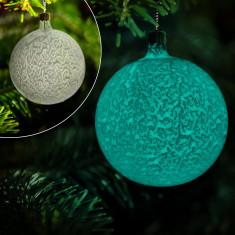 Ornamente Craciun - Glob de sticla fosforescent pentru bradul de Craciun