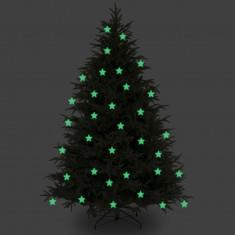 Ornamente Craciun - Stelute glow pentru pomul de Craciun set 10 bucati