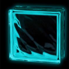 Caramida sticla fosforescenta? albastra model valuri