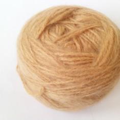 Fir de tricotat sau crosetat mohair cu acril si lana, moale, camel cald - Ata