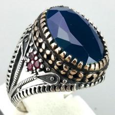 Inel argint 925 cu Safir și Rubin, măsura 10, 5