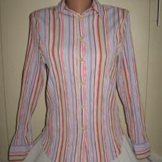 Camasa Next dungi colorate Mar 38/ 40 - Camasa dama Next, Culoare: Multicolor, Maneca lunga, Universala, Bumbac