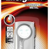 Energizer Lanterna 7638900307498, ENERGIZER Compact Led Metal, fara baterii incluse, argintiu