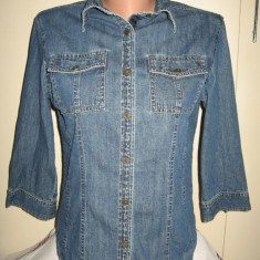 Camasa denim Bossini Jeans Mar M - Camasa dama, Marime: M, Culoare: Albastru, Maneca 3/4, Universala, Bumbac
