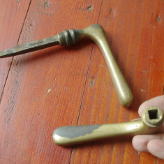 Maner vechi pentru usa din bronz si metal / model deosebit !!! - Metal/Fonta