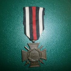 Colectii - DECORATIE GERMANA CRUCEA DE ONOARE WWW I 1914-1918 CU SPADE SI PANGLICA.