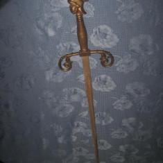Sabie vintage maner cap roman si lama gravata metal bronzuit.