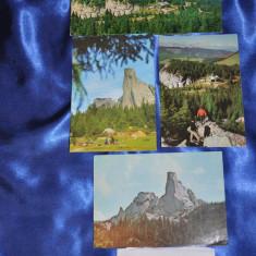 Lot 4 CP Muntii RARAU. (Carti postale vechi, Vederi Romania), Circulata, Fotografie, Romania de la 1950