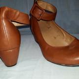 Vand pantofi maro platforma joasa marime 40 - Balerini dama
