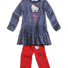 Set bluza si leggings 4-10 ani - Hello Kitty - bleumarin cu rosu, Marime: Alta, Culoare: Multicolor