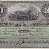 CUBA 10 pesos 1896 VF+++!!!, America Centrala si de Sud, An: 1896