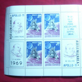 Bloc -Cosmos- Apollo 11 Romania 1969 - Timbre Romania, Nestampilat