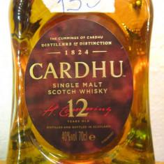 Whisky cardhu, 12yeard . single malt, cl 70 gr 40