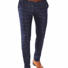 Pantaloni tip ZARA bleumarin pantaloni barbati -pantaloni office - 6609, Marime: 30, Culoare: Din imagine