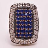 Inel argint 925 cu Safir, 15.10 g, mărime 7