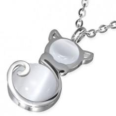 Lantisor din inox cu pandantiv pisica