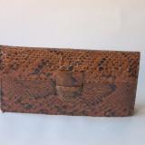 Poseta plic vintage - piele naturala sarpe - Geanta vintage