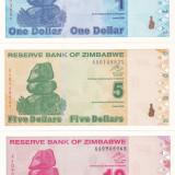 bancnota africa, An: 2009 - Bancnota Zimbabwe 1-500 Dolari 2009 - P92-98 UNC (set complet de 7 bancnote)