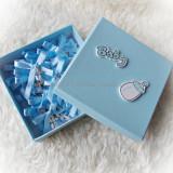 Set 50 cruciulite botez + cutie - bleu