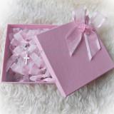 Set 50 cruciulite botez + cutie - roz