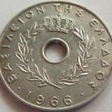 Moneda 20 Lepta - GRECIA, anul 1966 *cod 2831 Allu, Europa, An: 1966, Aluminiu