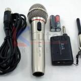 Microfon wireless fara cablu K&K nou carcasa metal, penar plastic baterii