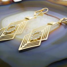 Cercei Placati cu Aur 18k, cu Zirconiu, cod 1660