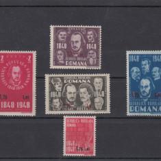 Timbre Romania, Nestampilat - ROMANIA 1952, LP 299, CENTENARUL REVOLUTIEI ROMANE 1848, MNH, LOT 3 RO
