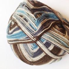 Fir de tricotat sau crosetat lana 75% cu poliamida, moale, degrade - Ata