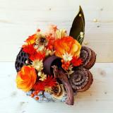 Suport flori - Aranjament cos stuf gri