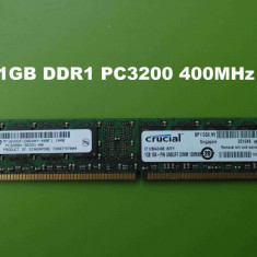 Memorie RAM PC DDR1 1GB PC3200 400MHz Crucial - Micron Technology