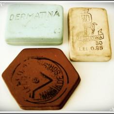 """LOT 3 GUME DE ȘTERS - 2 """"DERMATINA"""" ȘI 1 PT. MAȘINA DE SCRIS, VECHI, ROMÂNEȘTI!"""