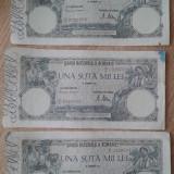 3 bancnote 100.000 lei 1946 serii consecutive