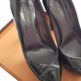 Pantofi DAMA LOUIS VUITTON Amarante Monogram Vernis Tamara Pumps - Marimea 38.5, Piele naturala