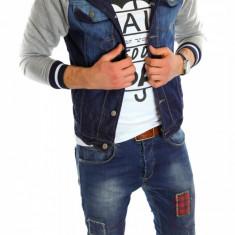 Geaca de blugi tip ZARA - geaca slim fit - geaca fashion - geaca de blugi 6081 - Geaca barbati, Marime: S, L, XL, Culoare: Din imagine