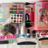 Kit Set Unghii False Gel UV Manichiura,Lampa 36w,12 Geluri Color,Pila - 4YOU