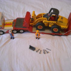 Playmobil City - Giga transport TIR + buldozer (3934) - Masinuta de jucarie Playmobil, Plastic