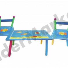 Masuta/scaun copii - Masuta si scaune pentru copii - imprimeu cu pestisori