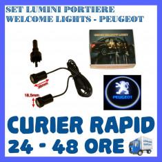 SET 2 x LUMINI LOGO LASER PEUGEOT GENERATIA 6 (12V, CAMION 24V) - LED CREE 7W - Logo Marca ZDM