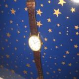 Ceas de mana vechi Pierre Bonnet, metal aurit, Swiss, 17 rubine, functional.