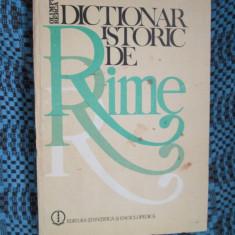 Beletristica - Olimpia BERCA - DICTIONAR ISTORIC DE RIME (1983)