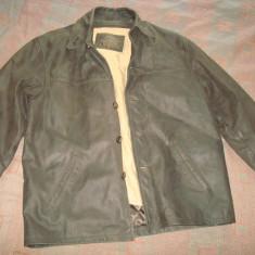 Geaca/sacou/haina din piele, barbateasca, model clasic - vintage, - Geaca barbati, Marime: XL, Culoare: Maro