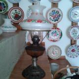 LAMPA DE BIROU CU ABAJUR PICTAT IN STARE BUNA, Lampi