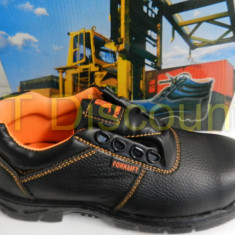 Bocanci barbati, Piele naturala - Incaltaminte protectie pantofi santier insertie metalica rezistenti la ulei