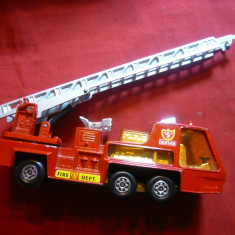 Jucarie -Masina Pompieri Match Box Lesney, metalica L= 13, 8 cm, Anglia