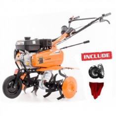 Ruris Motosapa DAC 7009K, 7 CP, roti cauciuc, rarita, freze, roata deplasare, cu 500 ml ulei gratis - Motocultor