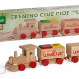 Trenulet de jucarie - Trenulet lemn cu cuburi