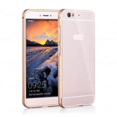 Husa telefon, Auriu, Metal / Aluminiu, Husa - BUMPER METALIC ALLVIEW X3 SOUL - BONUS FOLIE PROTECTIE