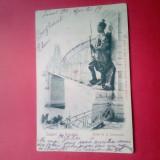 Carte Postala, Circulata, Printata - CP - SALUTARI DIN ROMANIA - PODUL DE LA CERNAVODA - 1901 - CIRC ( NR 0001 )