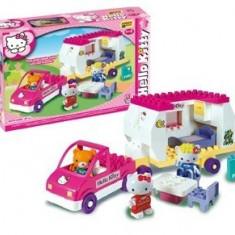 Jocuri Seturi constructie - Set constructie Unico Plus Hello Kitty Rulota